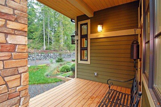 Fachada de casa con un dise o natural y energia eficiente - Colores de fachadas de casas de campo ...
