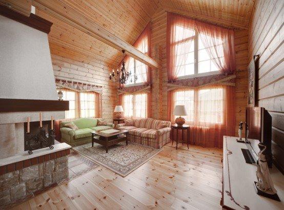 Casa de madera 4 - Interior casas de madera ...