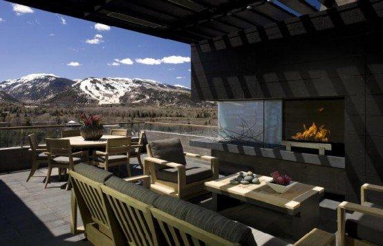 Casa moderna de concreto rodeada de naturaleza casa de la for Casa moderna en la montana