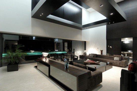 Casa de lujo minimalista y espectacular con piscina por a - Casa minimalista interior ...