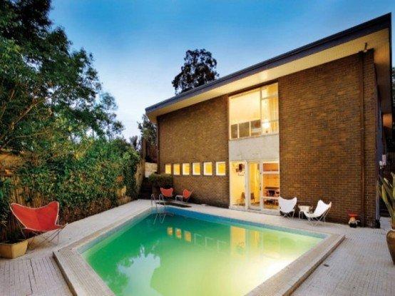 Mas for Patios de casas modernas con piscina