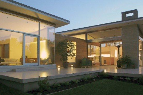 Casa moderna en un campo de golf h home por ras uno casas for Casa moderna en el campo
