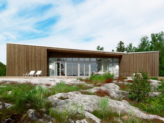 Casas de un piso casas y fachadas for Casa escandinava