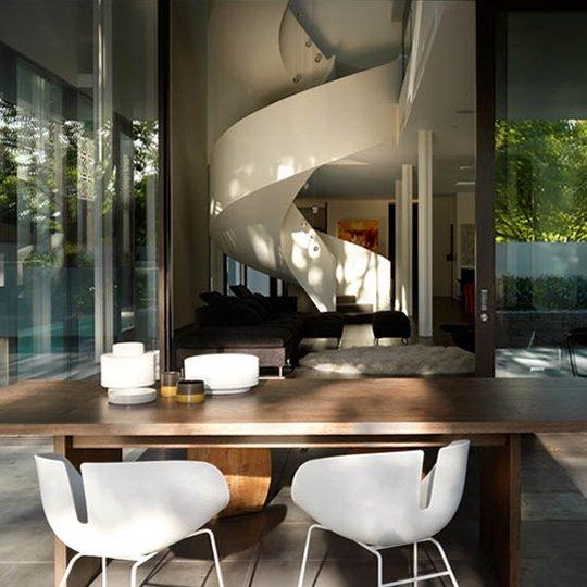 Interior de la casa moderna casas y fachadas for Casa moderna open