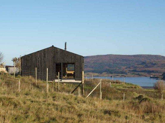 Dise o de las viviendas peque as casas y fachadas for Casas de campo de madera