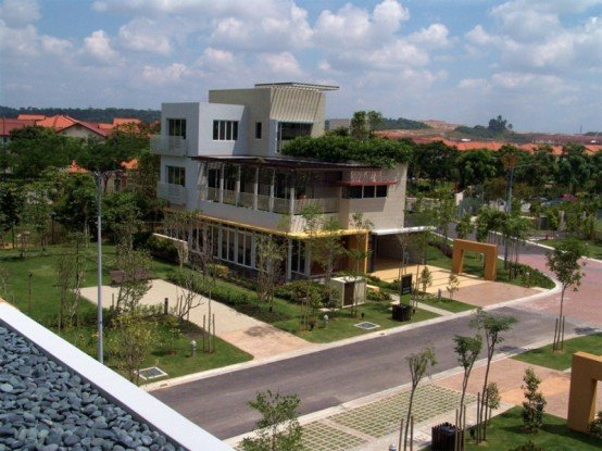 Eco villa 4 for Casas diseno jardines tropicales