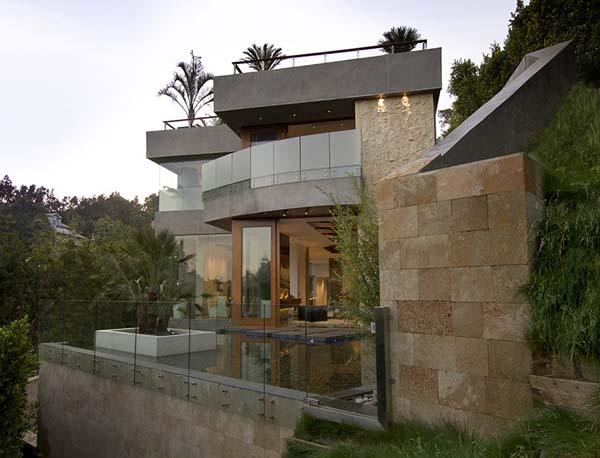 Californian modern residence in la 14 - Casas minimalistas de lujo ...