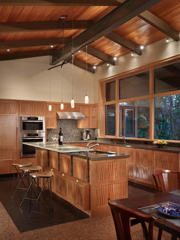 Espectacular fachada de casa de madera : Residencia Lake Forest Park ...