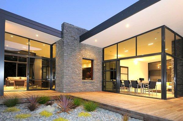 Fotos de casas ecologicas casas y fachadas for Casa minimalista cristal