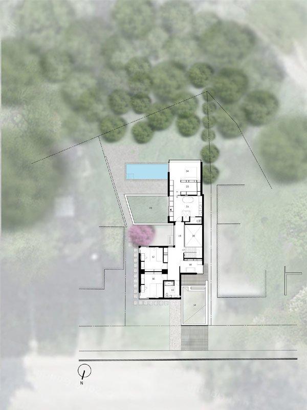 Cedarvale Ravine House Designed By Drew Mandel Architects: Fachada De Un Proyecto Residencial En Toronto: Cedarvale