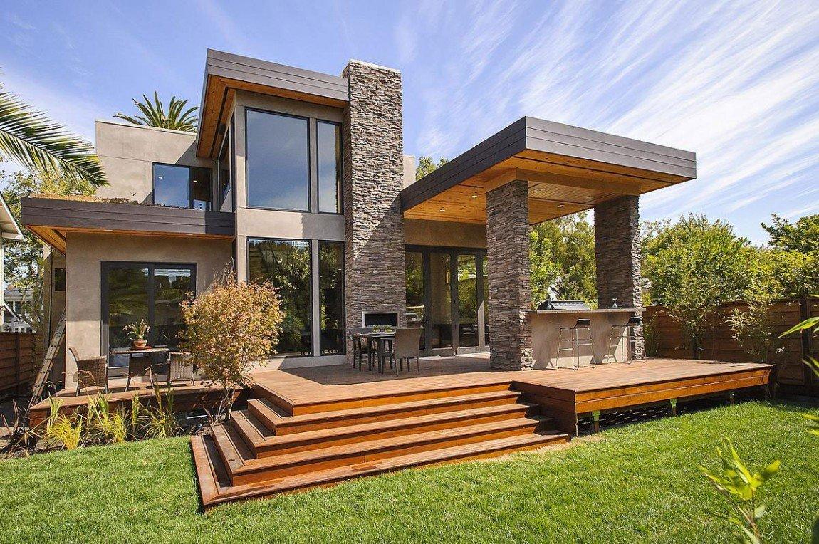 Fachadas de casas con terrazas casas y fachadas for Casas para terrazas