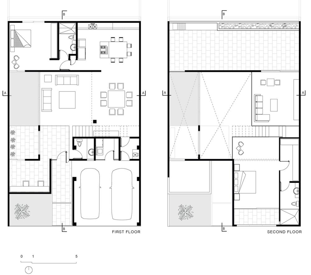 Casa urbana en canc n muestra un estilo contempor neo y - Planos de arquitectos ...