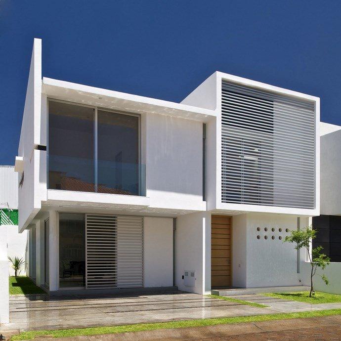 Fotos de fachadas minimalista casas y fachadas for Fachada minimalista una planta