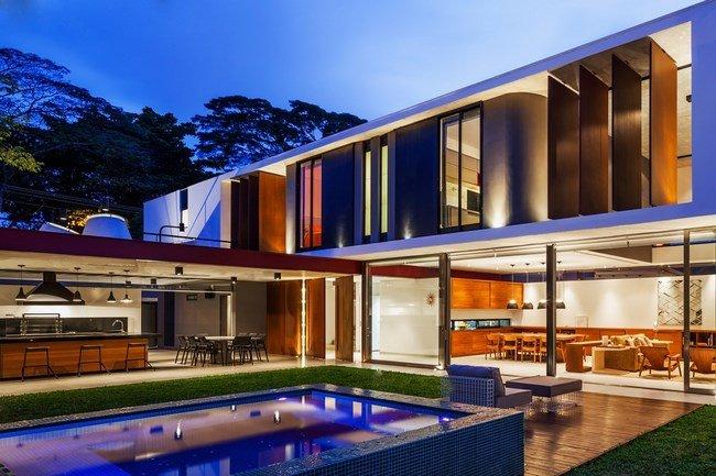 Casas modernas en brasil casas y fachadas for Casas modernas brasil
