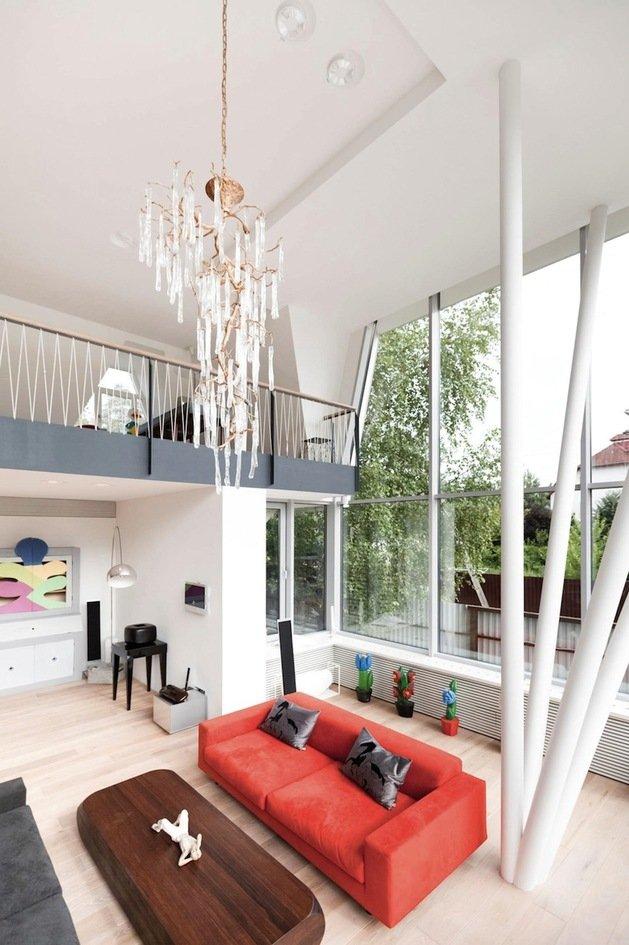 Casas modernas vivienda que conbina lo mejor de la for Sala de estar segundo piso