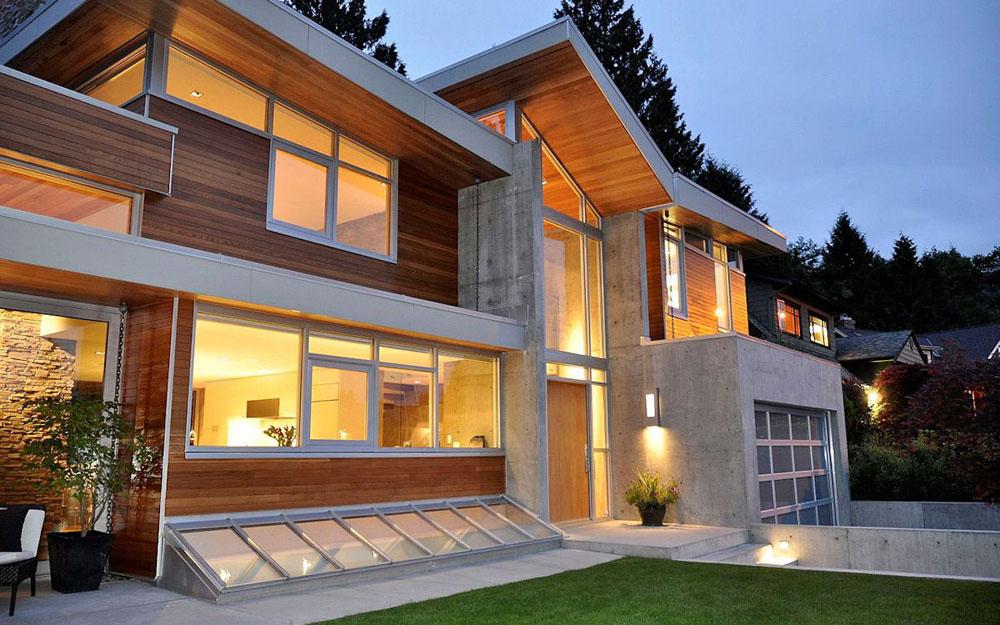 Casa Moderna con una conexion perfecta con la naturaleza