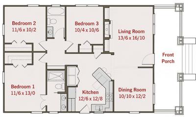 planos de casas un piso