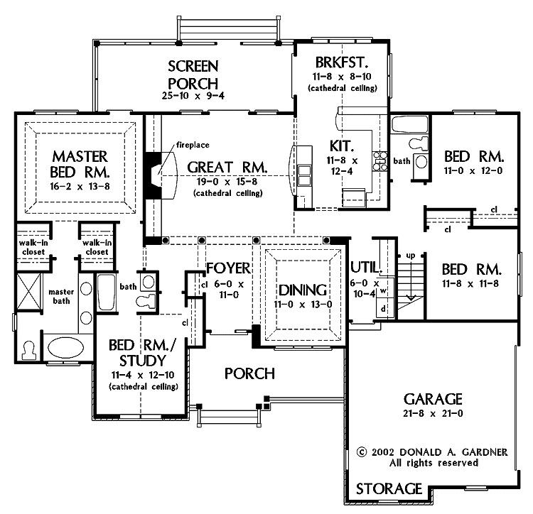 Planos de casas de un piso fachadas y planos de 10 for Planos de pisos grandes