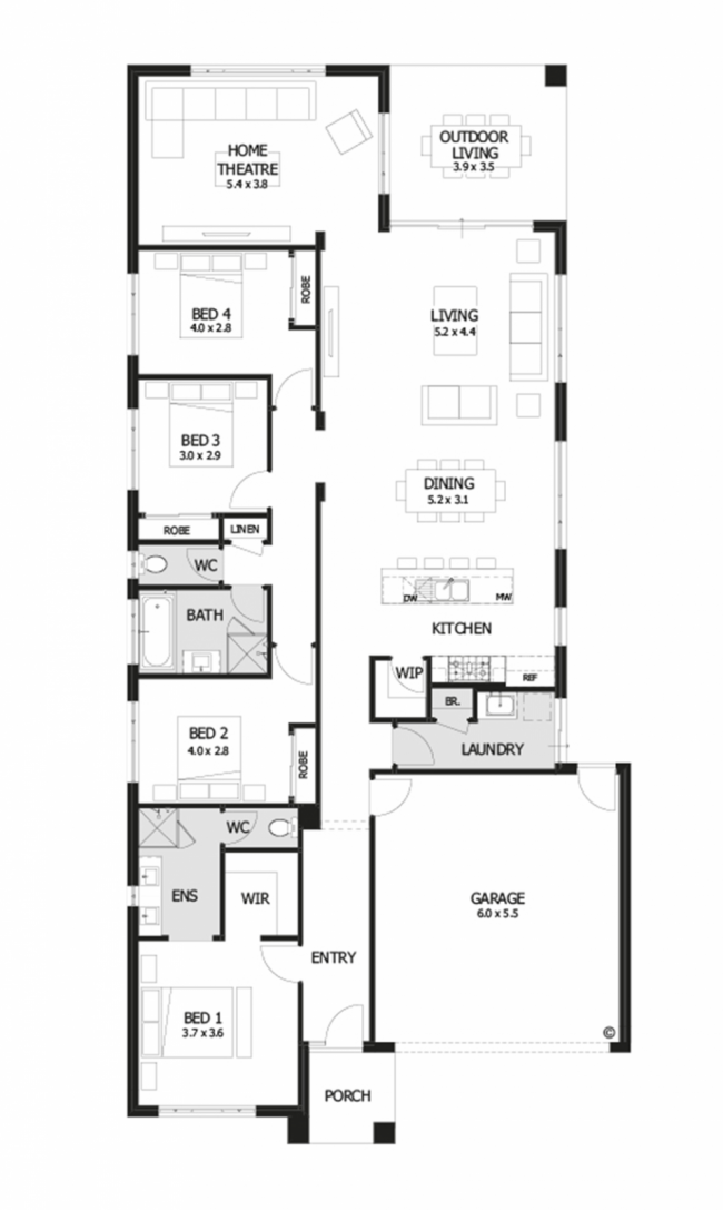 Planos de casas de un piso fachadas y planos de 10 for Planos de casas medianas