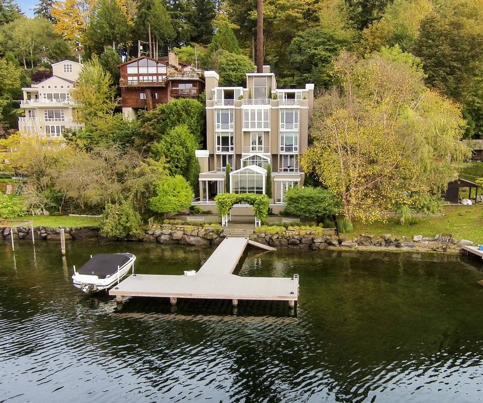 Una vida de lujo en una Casa Contemporánea con estilo en Bellevue, Washington