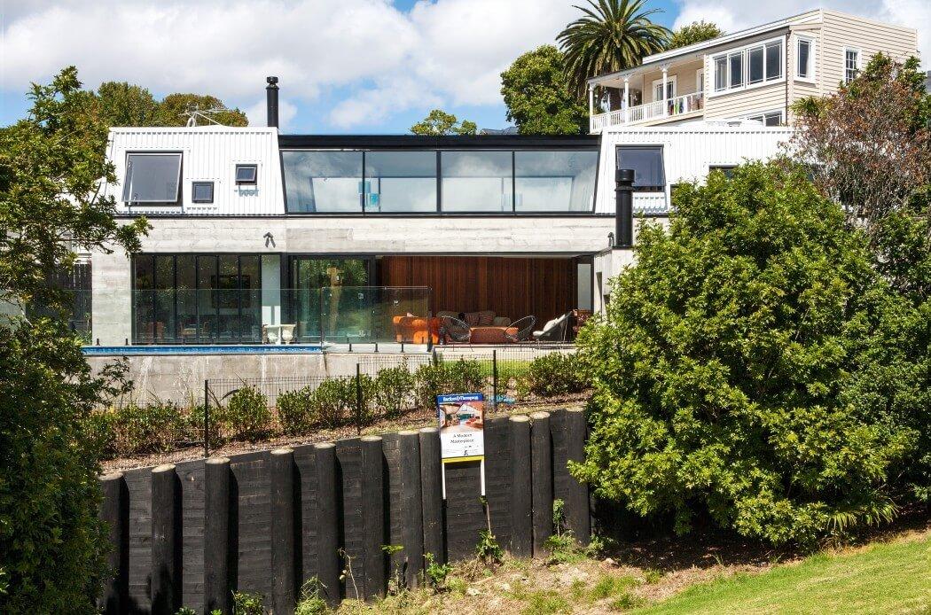 Residencia alterna con espacio abiertos y cerrados en Nueva Zelanda : Casa Freeman Bay