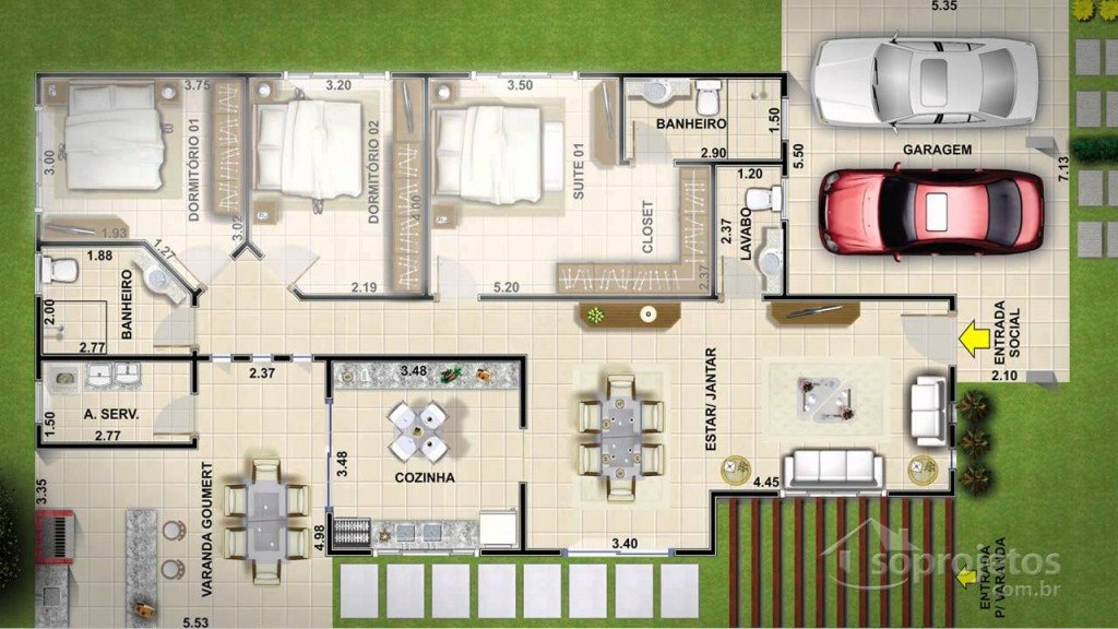 Planos de casas casas y fachadas for Casas modernas con planos y fachadas