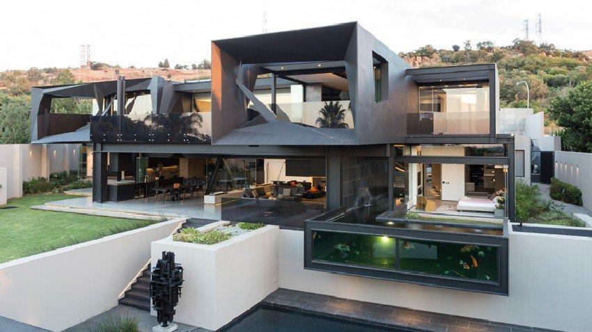 Fachadas de casas modernas en Johannesburgo, Casa Kloof Road presentando una arquitectura moderna