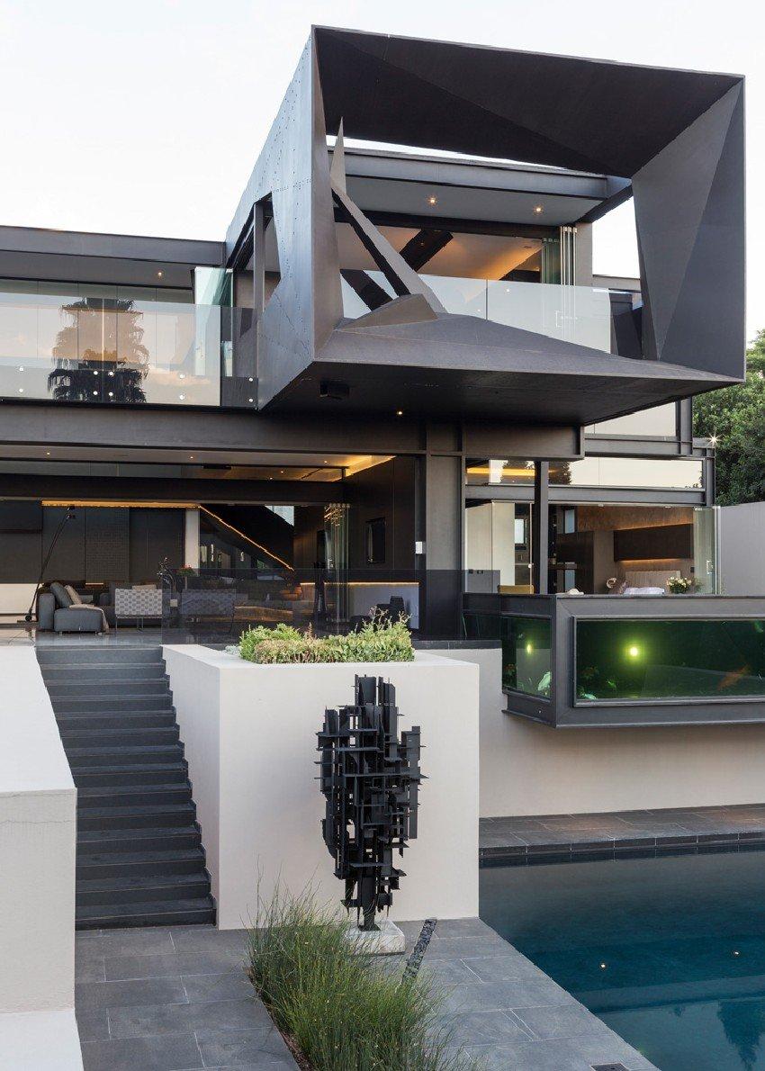 Fachadas de casas modernas en Johannesburgo, Casa Kloof Road ...