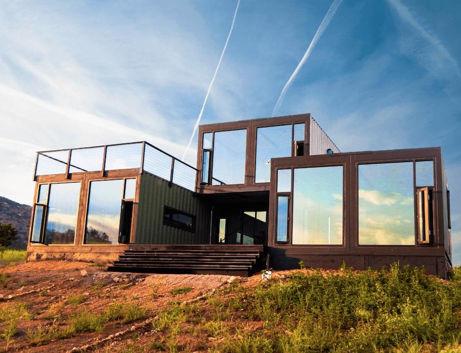 15 Bien Diseñadas Fachadas de Casas Prefabricadas con contenedores de carga