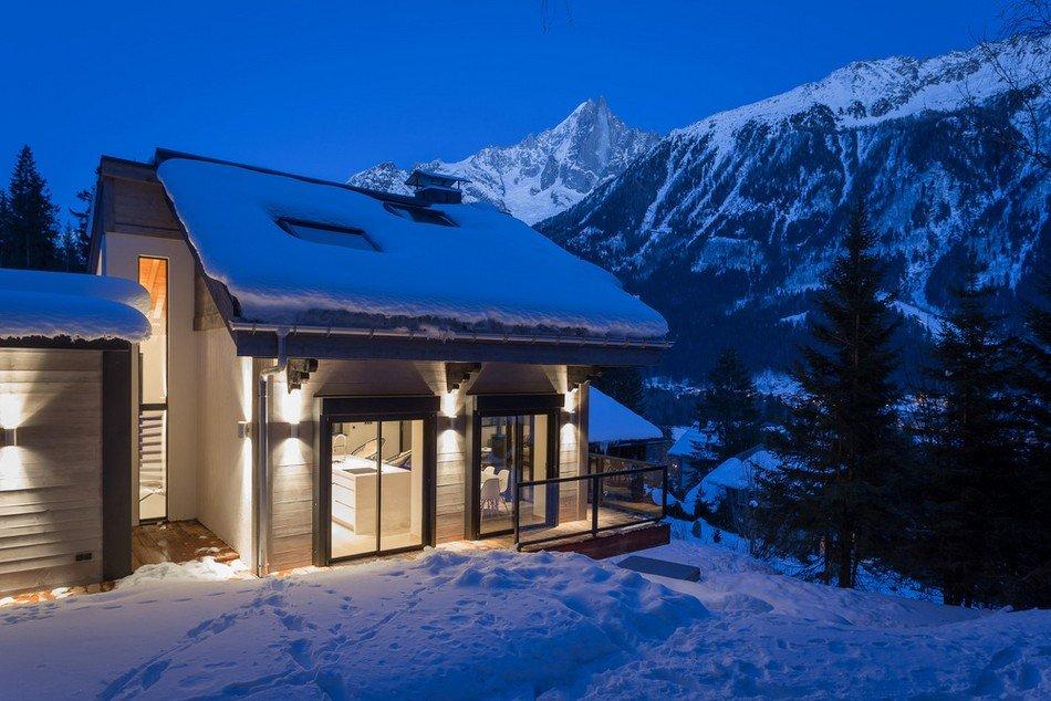 Fachadas de casas tipo Chalet para un Invierno práctico