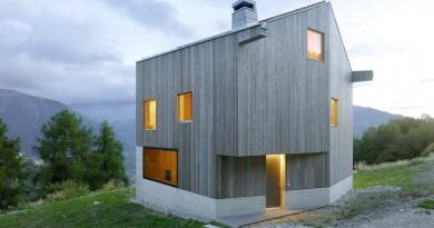 Fachadas de casas Minimalista con vistas a los alrededores