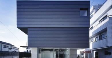 Casa Japonesa minimalista, mitad hogar y mitad galeria de arte