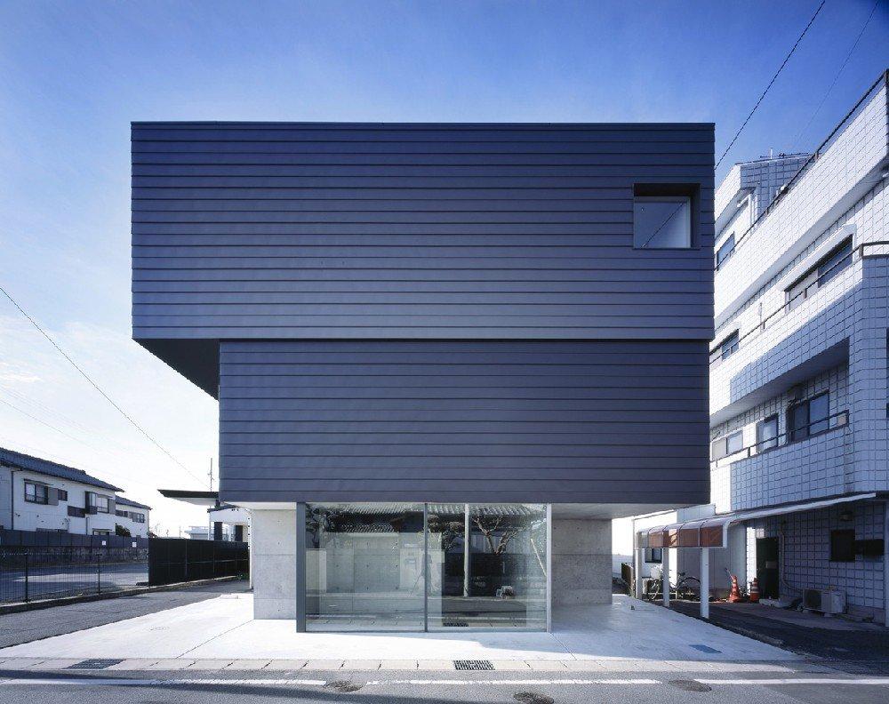 Casa Japonesa Minimalista Mitad Hogar Y Mitad Galeria De