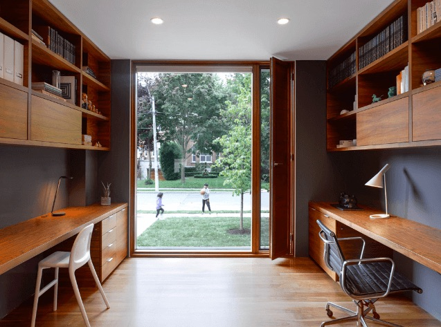Office with desks - energy efficient home Toronto
