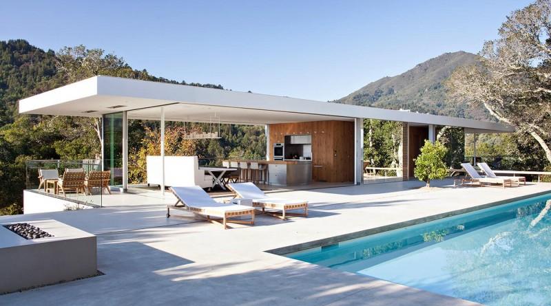 Casa Moderna en el norte de California que desaparece en el paisaje